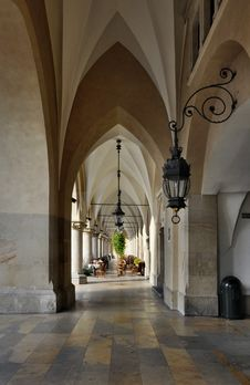 Free Arcades Of Sukiennice In Krakow, Poland Royalty Free Stock Photo - 25878715