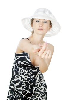 Free Girl In A Summer Hat Royalty Free Stock Photo - 25879085