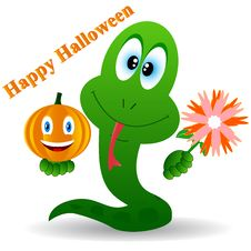 Free Snake In A Halloween Royalty Free Stock Photography - 25879517