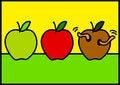 Free Three Apples Stock Photos - 25885893