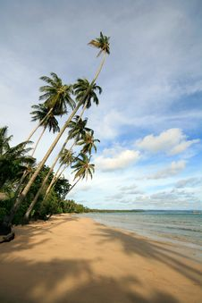 Deserted Beach In Thailand Stock Photography