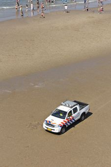 Free Beach Police Patrol Car Royalty Free Stock Images - 25881459