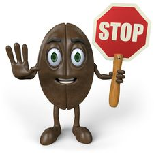 Free Coffee With Stop Sign Stock Image - 25881851