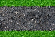 Free Grass And Soil Background Royalty Free Stock Photography - 25883167