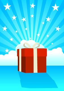 Free Gift Box Royalty Free Stock Image - 25886156