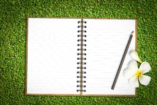 Free Notebook In Green Grass Royalty Free Stock Photography - 25888637