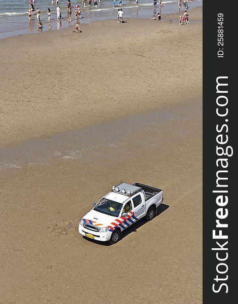Beach Police Patrol Car