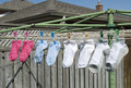 Free Socks Hanging Outside To Dry Royalty Free Stock Photos - 25890098