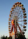 Free Colourful Big Ferris Wheel In The Blue Sky Stock Images - 25892354