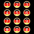 Free German Numbers Icons Stock Photo - 25894600