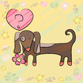Free Card With Dog And Heart Royalty Free Stock Image - 25894706