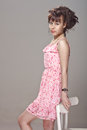Free Beautiful Girl In A Pink Dress Royalty Free Stock Photos - 25895258