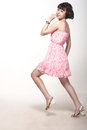 Free Beautiful Girl In A Pink Dress Royalty Free Stock Photos - 25895348
