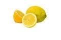 Free Set Of Lemons Isolated On White Background Stock Images - 25898674