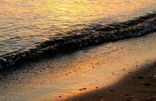 Free Sandy Seashore At Sunset Royalty Free Stock Image - 25892316