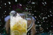 Free Water Poured Onto Lemons Stock Photo - 25893480