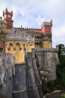 Free The Pena Palace In Sintra Near Lisbon Stock Photography - 25894072