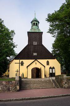 Free Catholic Church In Leba, Poland. Stock Images - 25894144