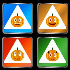 Free Four Signs Of Pumpkins Stock Photo - 25894610