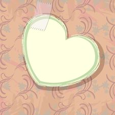 Free Paper Heart Over Old Wallpaper Royalty Free Stock Images - 25894739