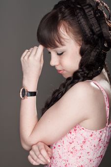 Free Pensive Girl Royalty Free Stock Photography - 25895317