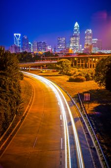 Charlotte Uptown Cityscape Royalty Free Stock Photo