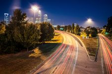 Free Charlotte Uptown Cityscape Royalty Free Stock Photos - 25895838