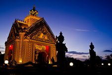 Free Temple After Sunset Royalty Free Stock Images - 25898009