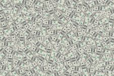Free Heap Of Dollars, Money Background Royalty Free Stock Photography - 25898517