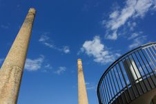 Free Two Old Chimneys Stock Photography - 25899272