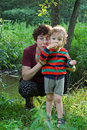 Free Mother And Child On A Glade Stock Photo - 2594150