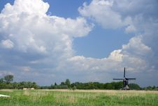 Free Dutch Sky With Windmill Stock Photo - 2591210