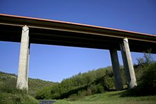 Free Motorway Brigde By Forest Stock Photography - 2592032