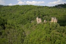 Free Mediaval Castle In Forest Royalty Free Stock Image - 2592336
