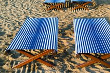 Free Beds In The Beach Royalty Free Stock Photos - 2592338