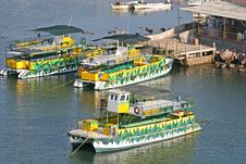 Colorful Party Boats Stock Photos