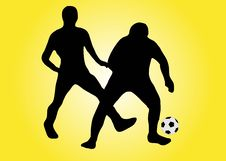 Free Two Soccer Players With Ball Stock Image - 2592391