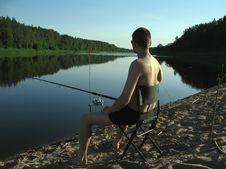 Free Fisherman At Evening. Royalty Free Stock Photo - 2593745