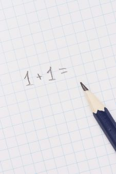 Free Pencil On Notebook Stock Image - 2595421