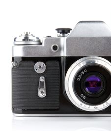 Free Classic 35mm Camera. Royalty Free Stock Photos - 2596078