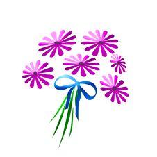 Purple Bouquet Royalty Free Stock Image