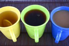 Free Color Mug (with Tea And Coffee Royalty Free Stock Photo - 2596865