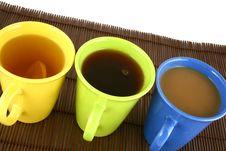 Free Color Mug (with Tea And Coffee Stock Photo - 2596910