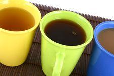 Free Color Mug (with Tea And Coffee Royalty Free Stock Photo - 2597085