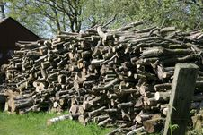 Free Large Stack Of Tree Logs Stock Photo - 2597220