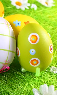 Free Easter Eggs A Background Stock Photography - 2597492
