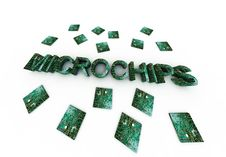 Microchips Word Stock Images