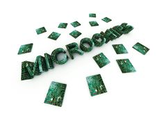 Microchips Word 31 Royalty Free Stock Photos