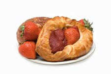Free Pastry Plate Royalty Free Stock Photo - 2598425