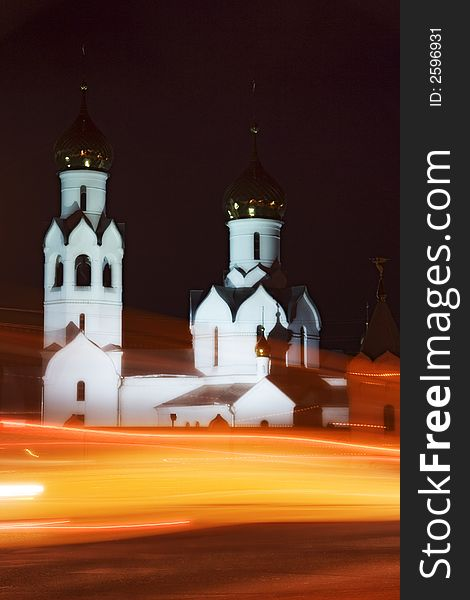 Orthodox temple and night life